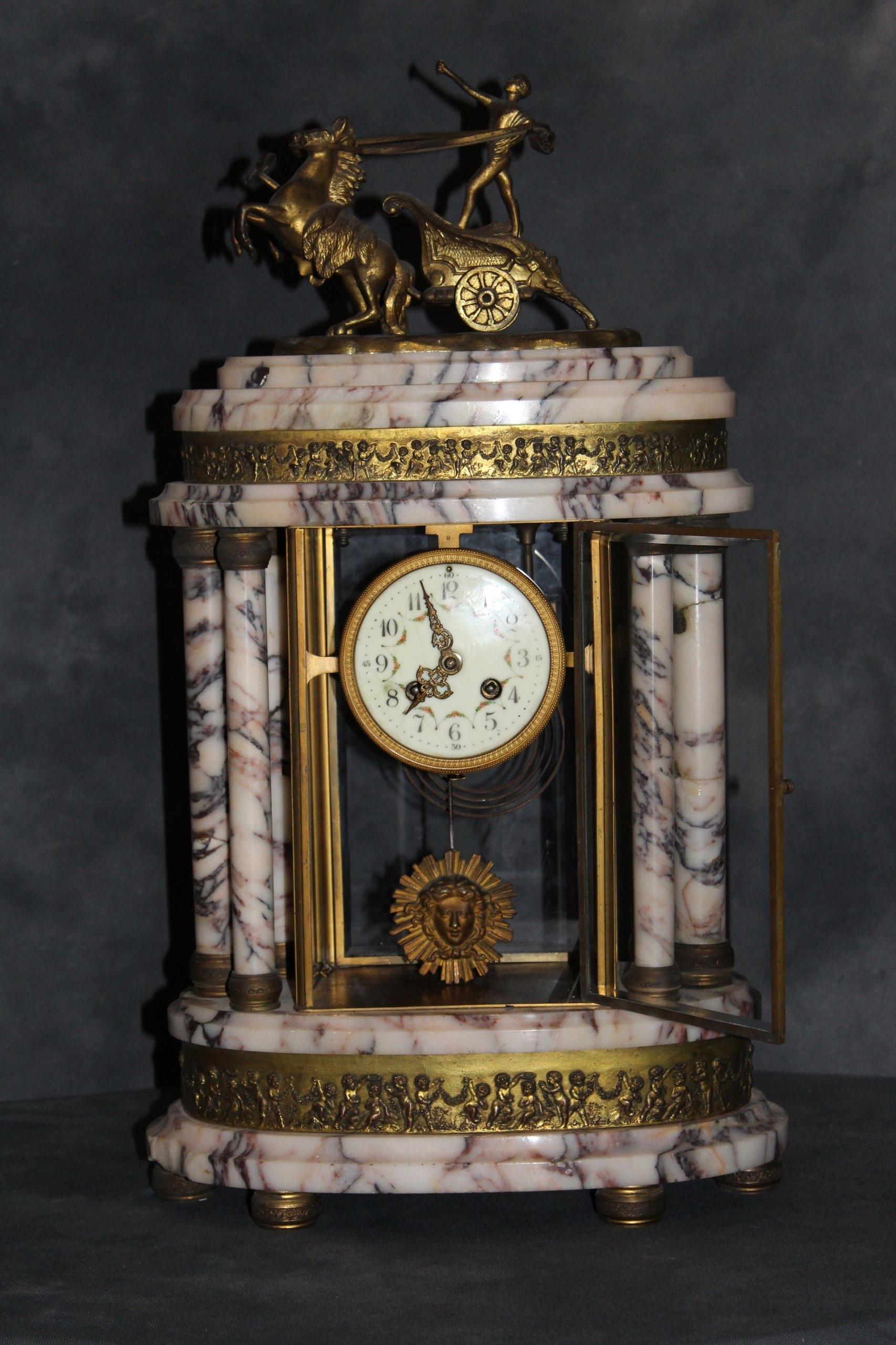 Zegar Na Kominek Kolumnowy Francja Xix W 7420851816