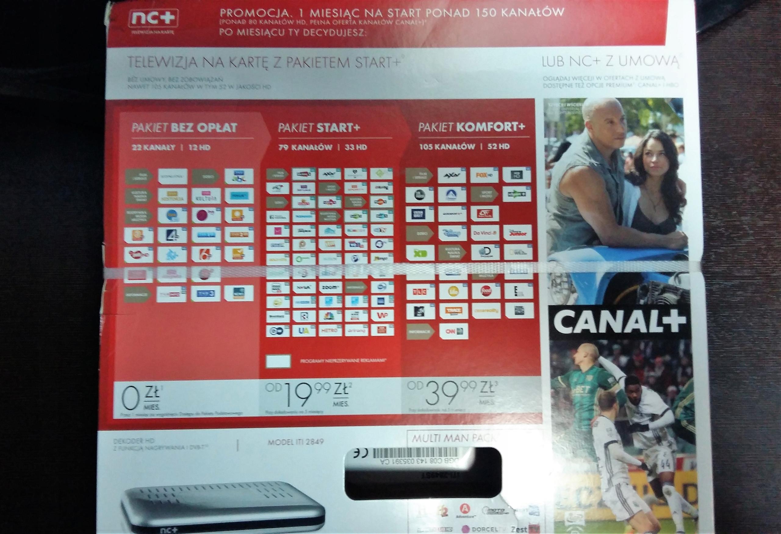Nc Plus Na Karte.Dekoder Telewizja Na Karte Tuner Nc Plus Cyfra