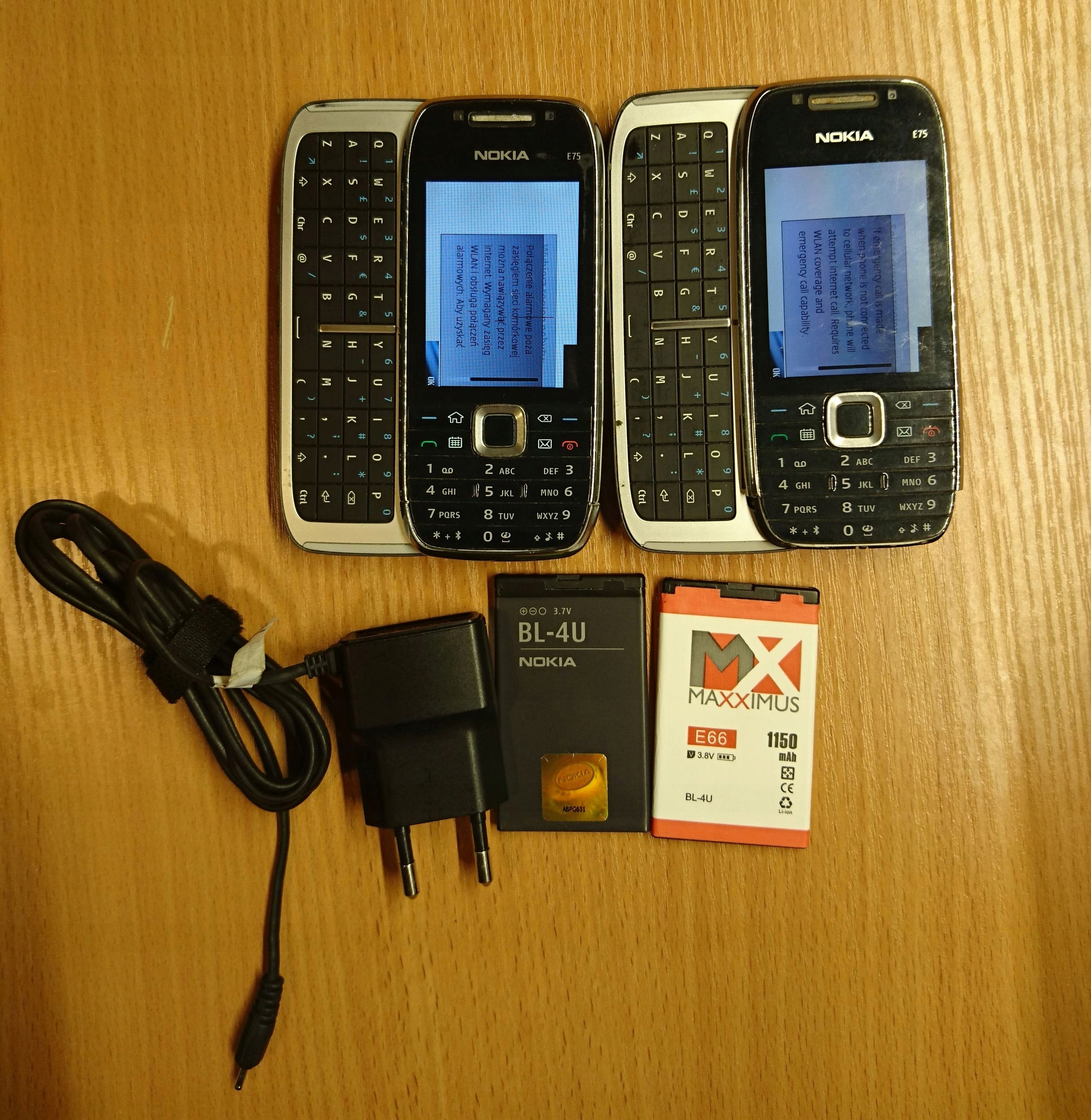 Nokia E75 bez simlocka+druga E75 i baterie gratis