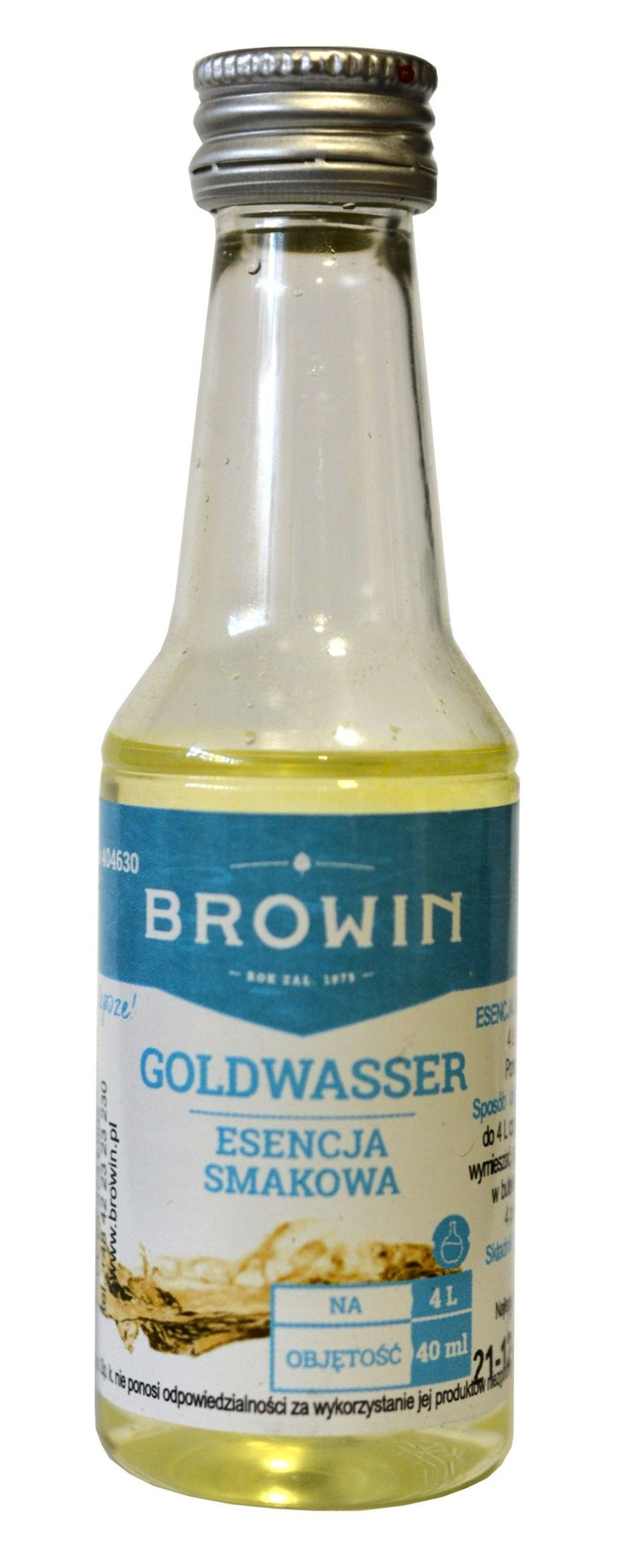 Zaprawka do alkoholu BROWIN GOLDWASSER 40ml