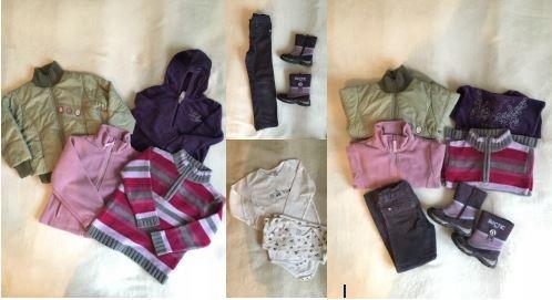 Zestaw ubrań - dla dziewczynki, r. 110