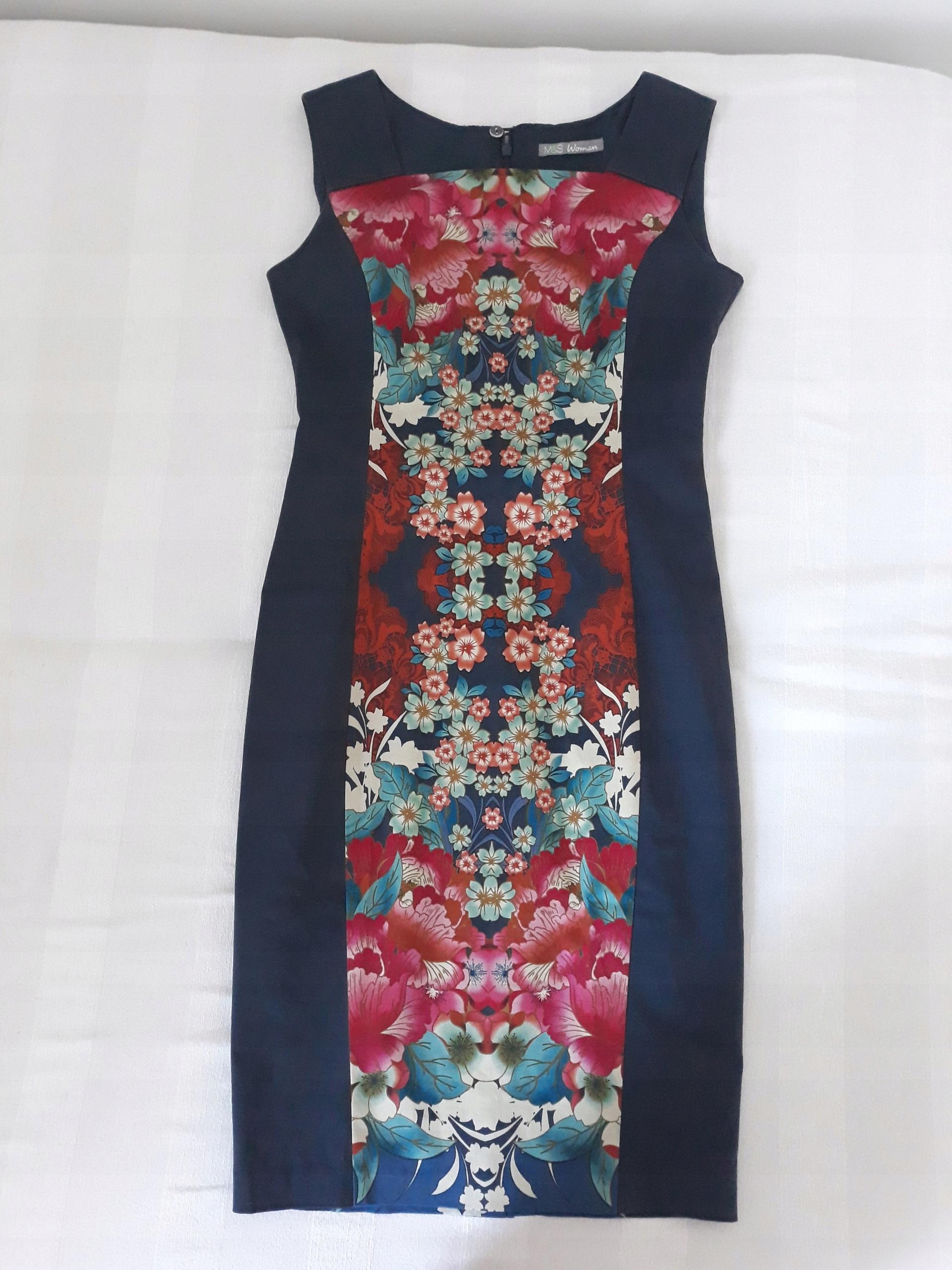 e3186f6f11 M S sukienka japońskie kwiaty wesele retro - 7518945109 - oficjalne ...