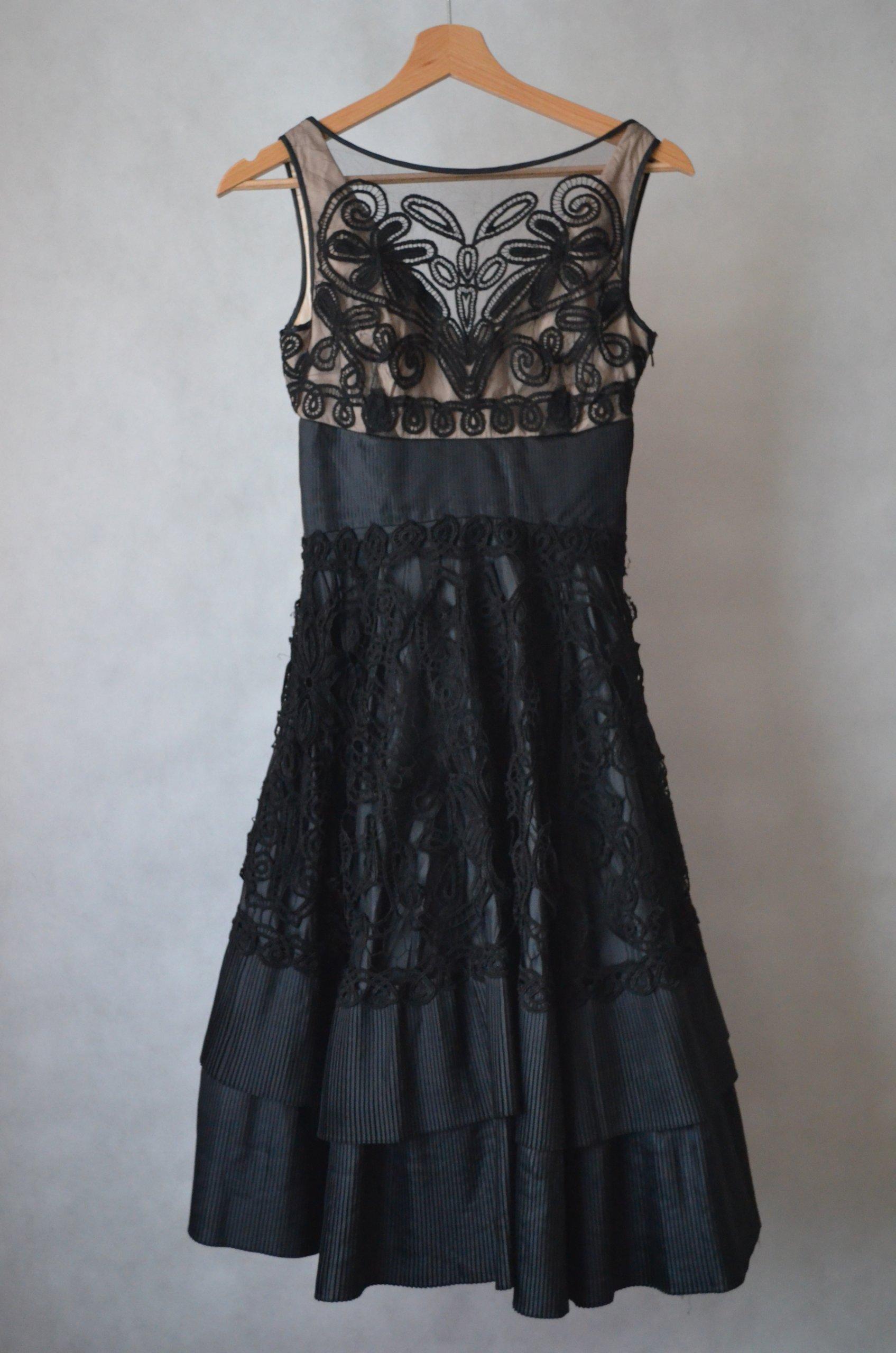 9b41423a sukienka Coast 36/34 koronka plisy wieczorowa