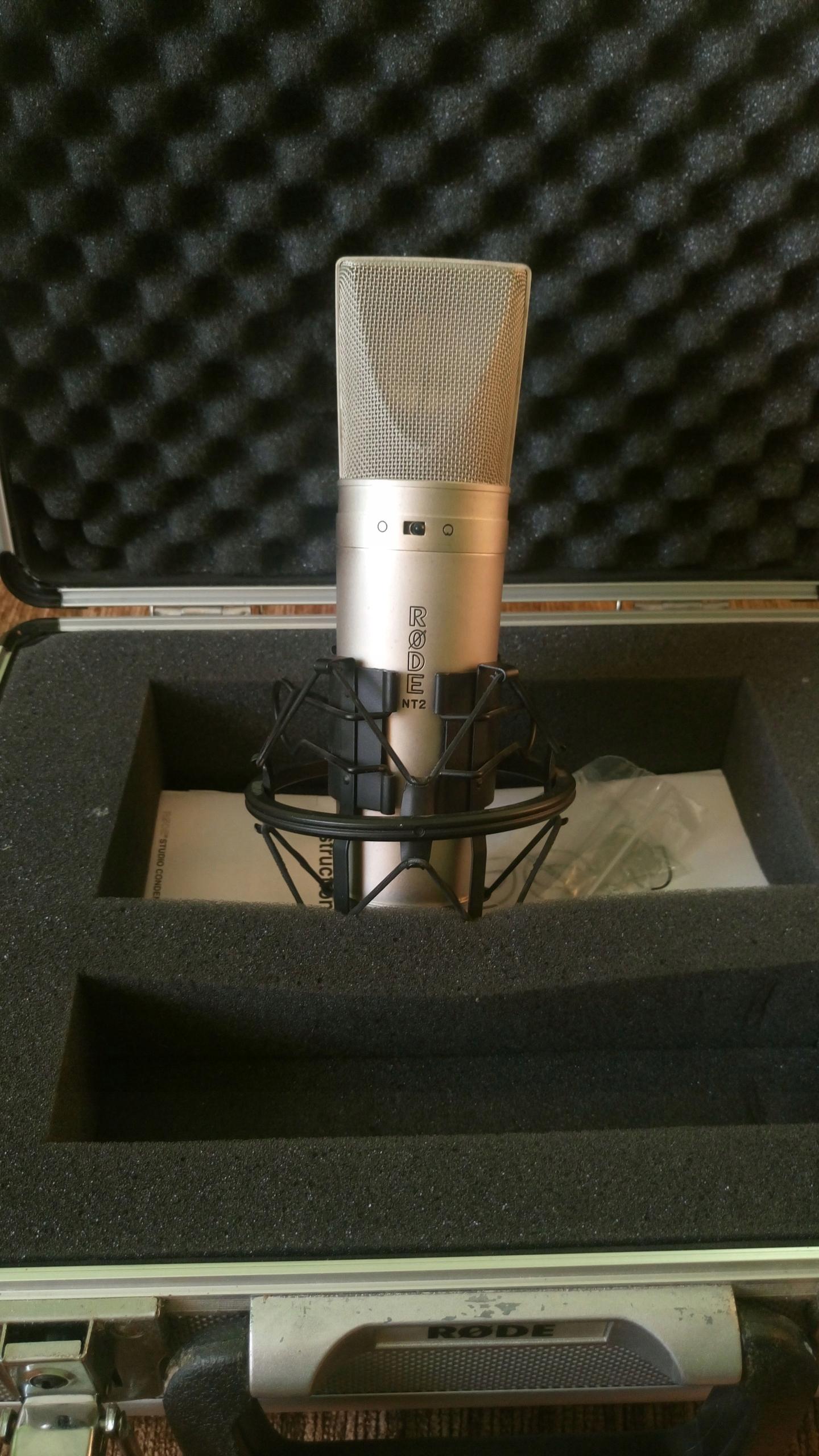 Mikrofon Rode NT2 + uchwyt + case