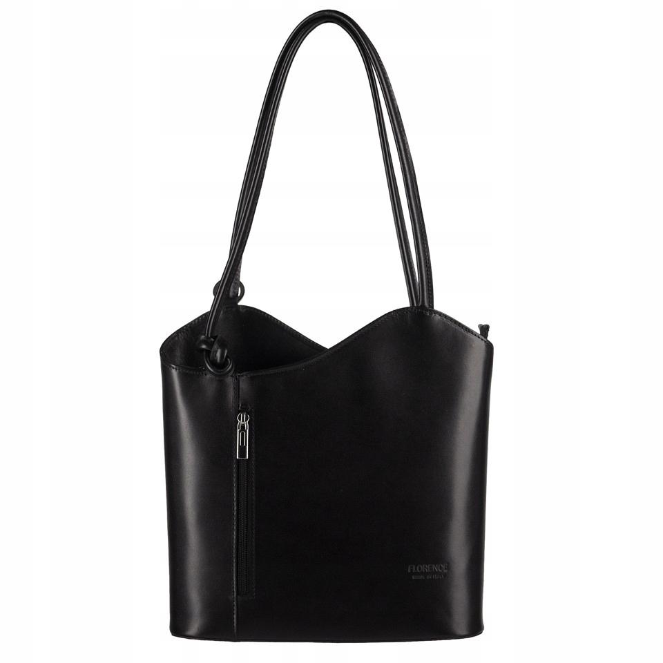 341d63a3cf24a Florence - Skórzana włoska torebka plecak 2w1 czar - 7686399732 ...