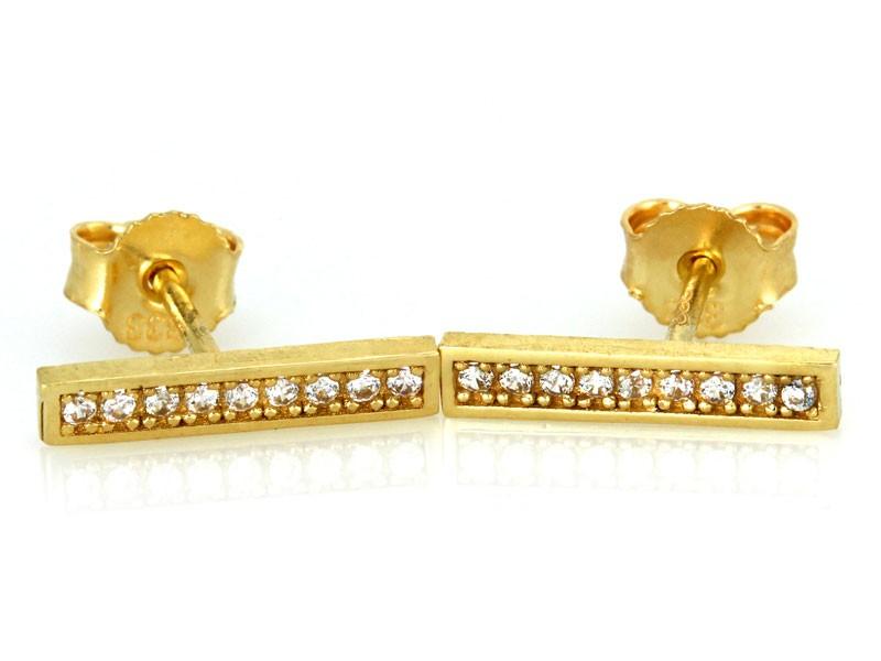 bfe32d5e4f41e3 Kolczyki złote proste z cyrkoniami 0,333 - 7325291613 - oficjalne ...