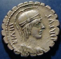 Republika, Aquillius. DENAR serratus. Sicilia.