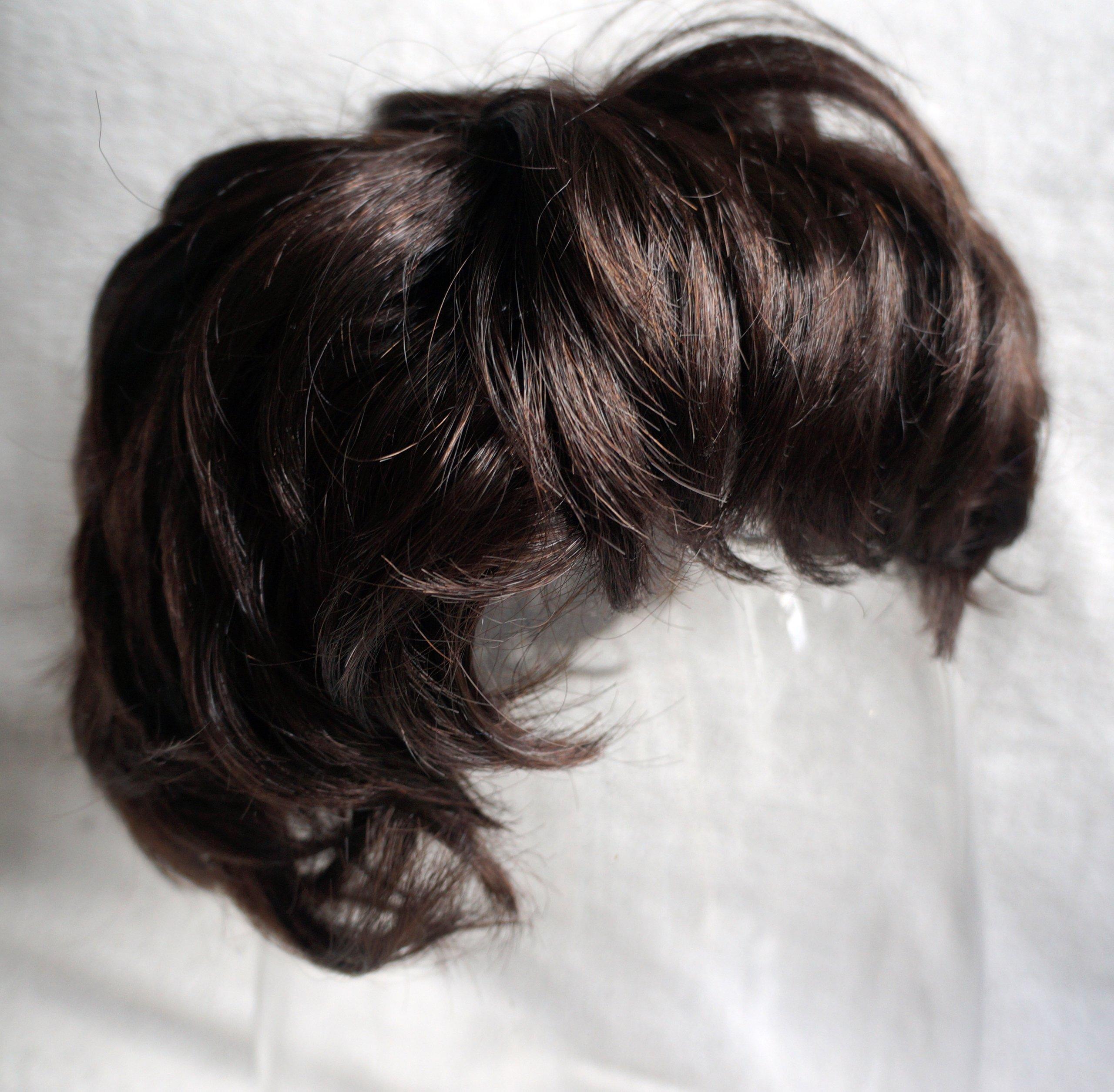 Peruka Włosy Brązowe Krótka Fryzura Bob
