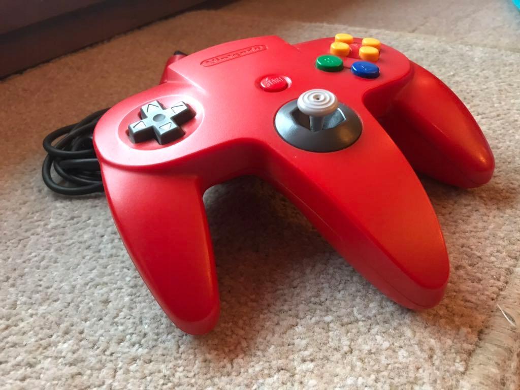 Nintendo 64 Czerwony Kontroler oryginalny pad N64