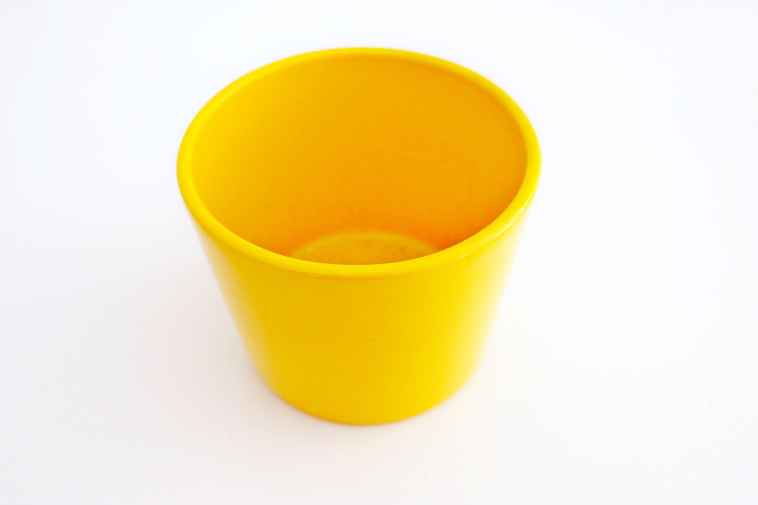 Doniczka Osłonka Ceramiczna żółta 12 Cm 7210836358