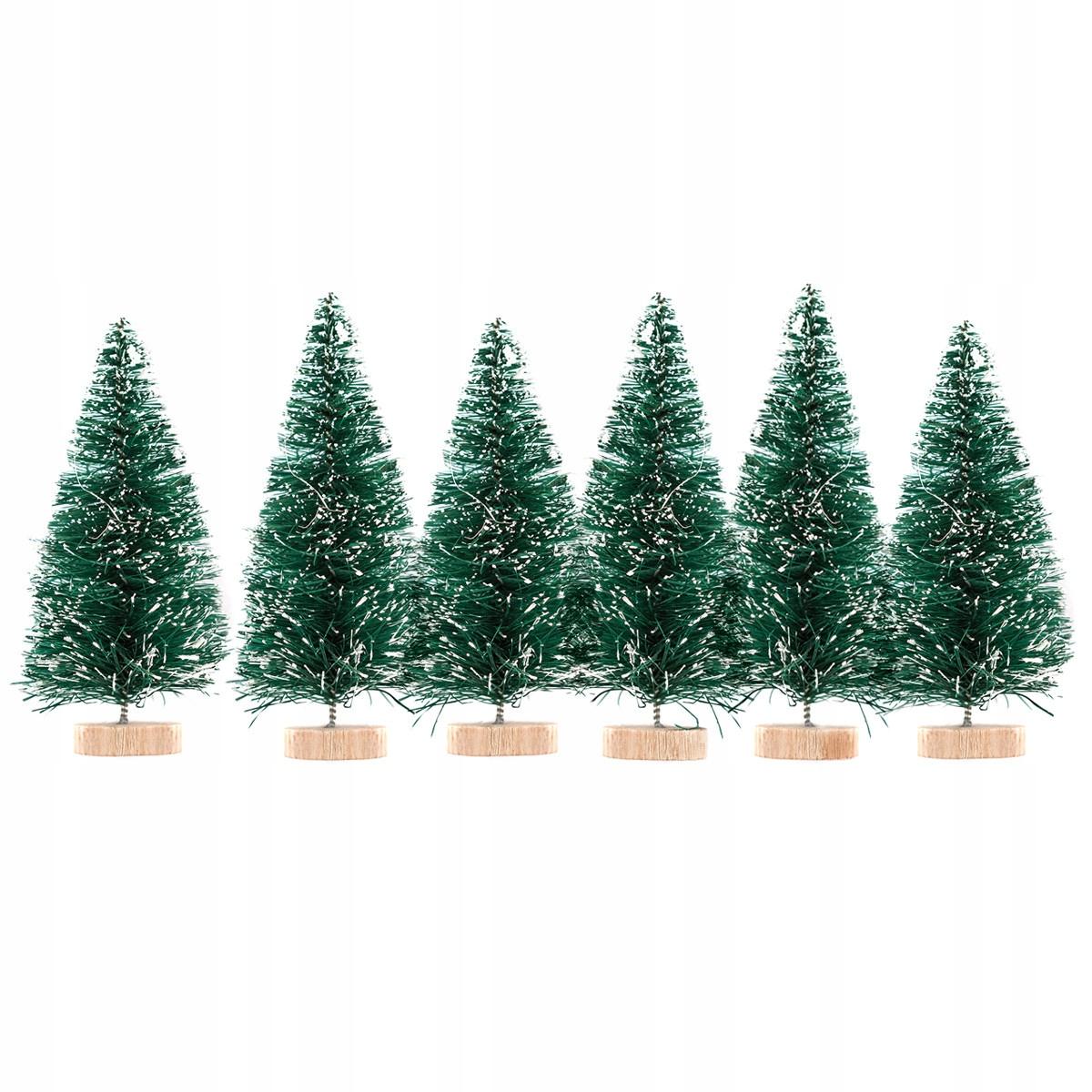 Choinki Dekoracyjne świąteczne Zielone 5cm 6 Szt