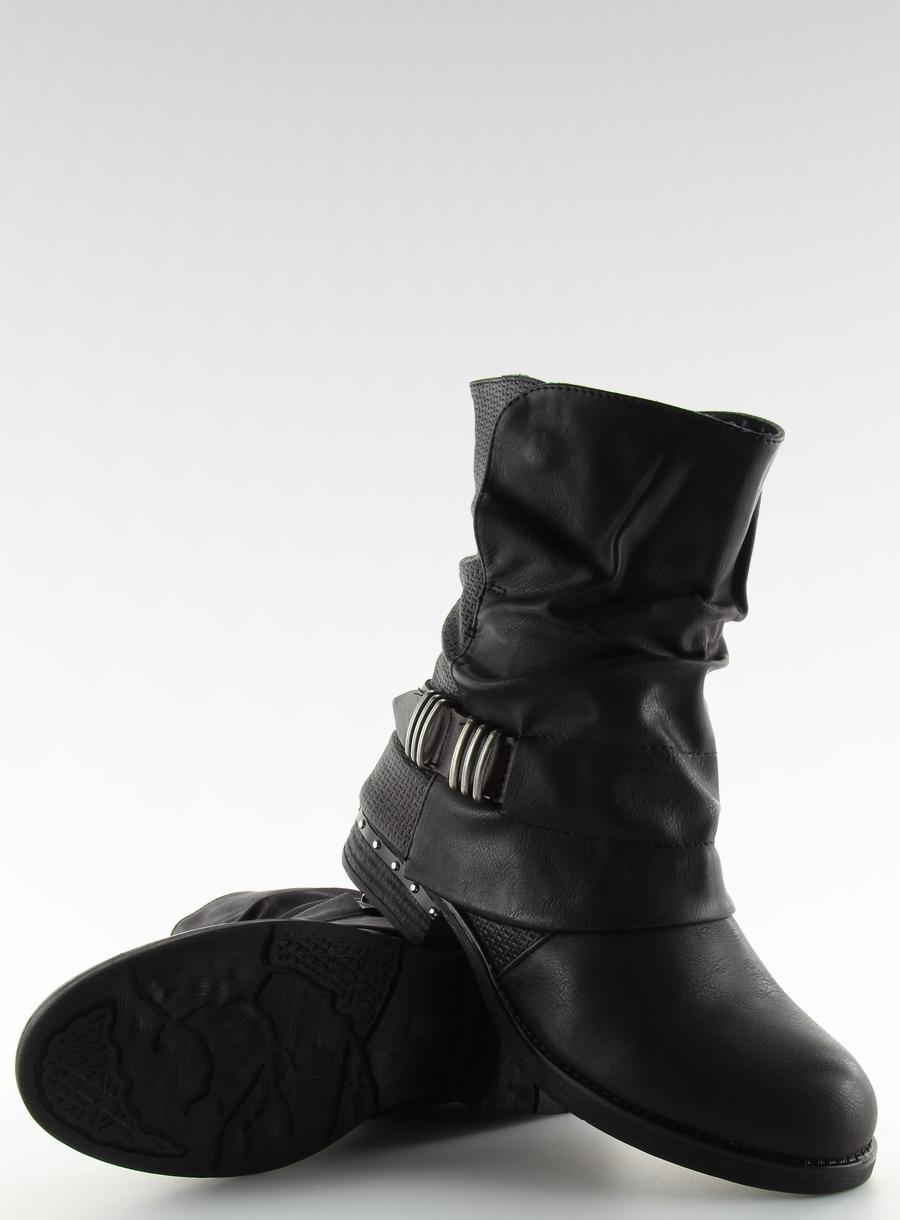 093c2b1cf8d74 Botki militarne czarne BLACK 39 Płaski buty 3,00 - 7149159070 ...