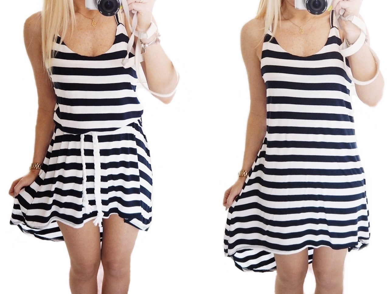 02bf439af2 Sale% Letnia sukienka marynarska PASY Granat biel - 7281435625 ...
