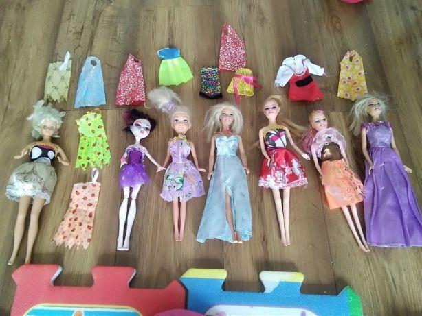 4fc3b6e64287 zestaw 7 lalek (w tym 1 barbie i1 monster )+sukink - 7276817062 ...