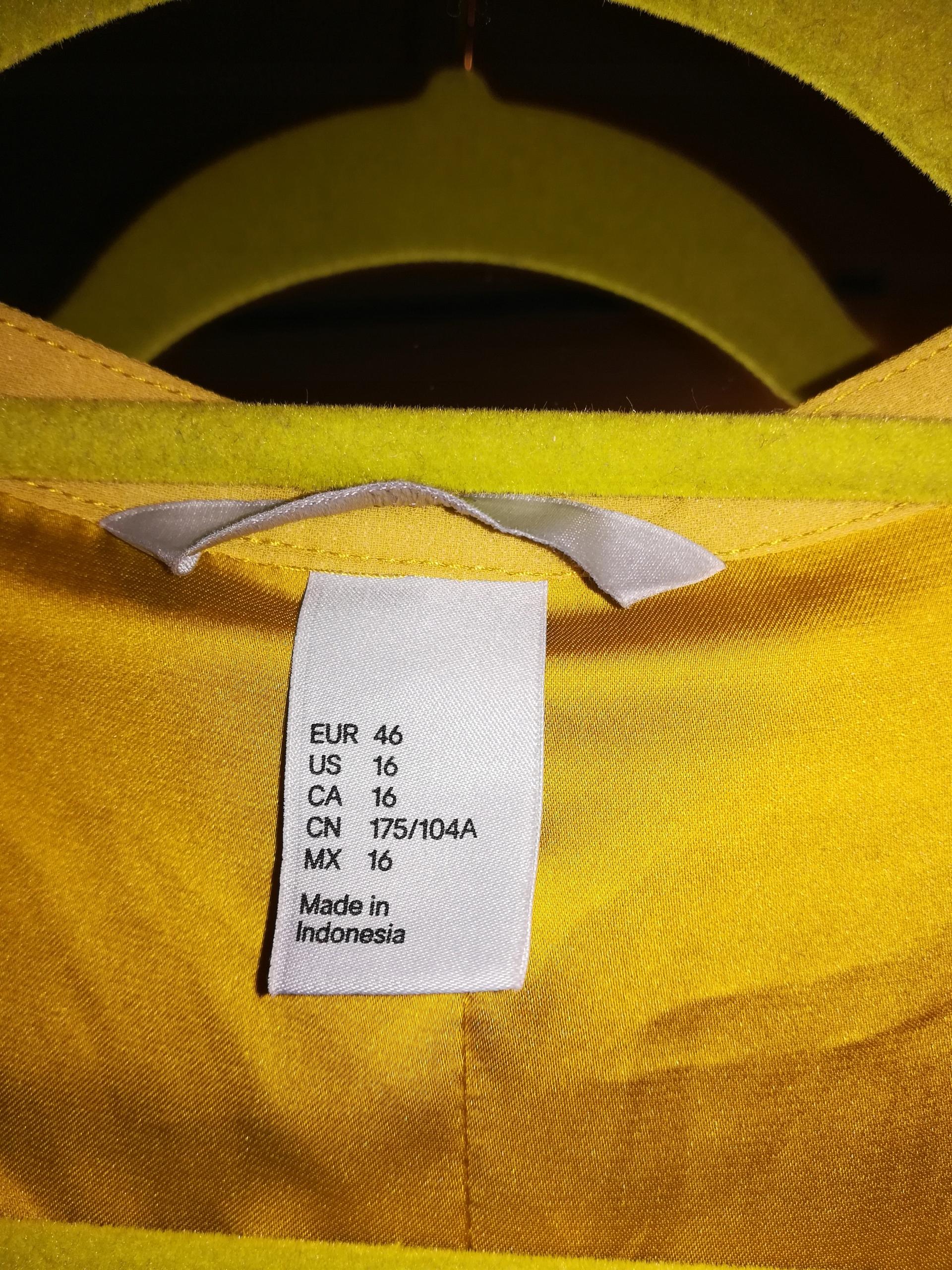 2218be3124 Musztardowa sukienka H M rozmiar 46 - 7716996285 - oficjalne ...