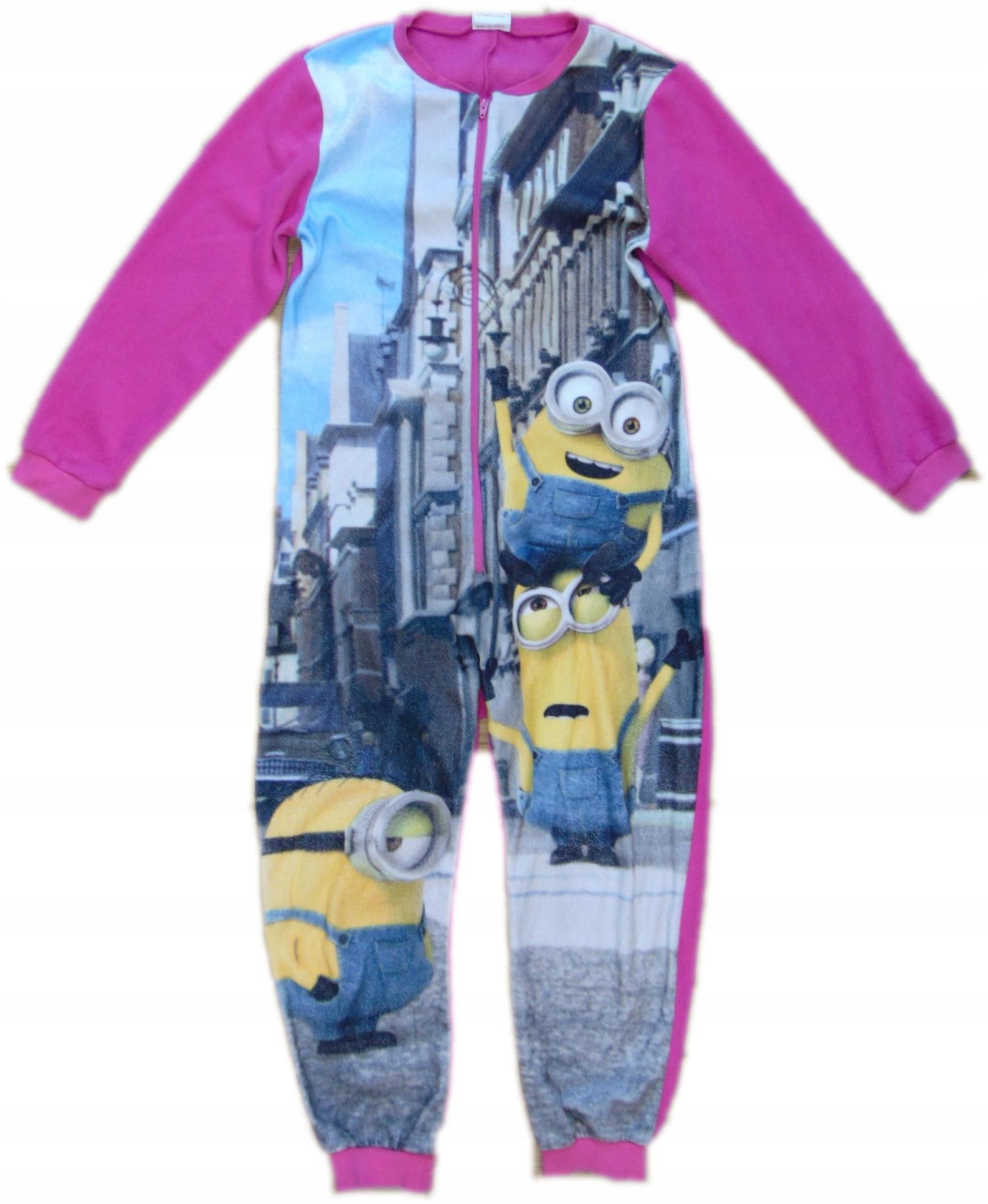 cd16dd5b7cb927 MINIONKI piżama POLAR kombinezon 140 146 X10 - 7609637974 ...