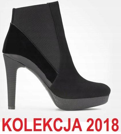 6bfa69d89c4b0 KAZAR BOTKI SŁUPEK PLATFORMA ZAMSZ SKÓRA LAKIER 38 - 7605810964 ...