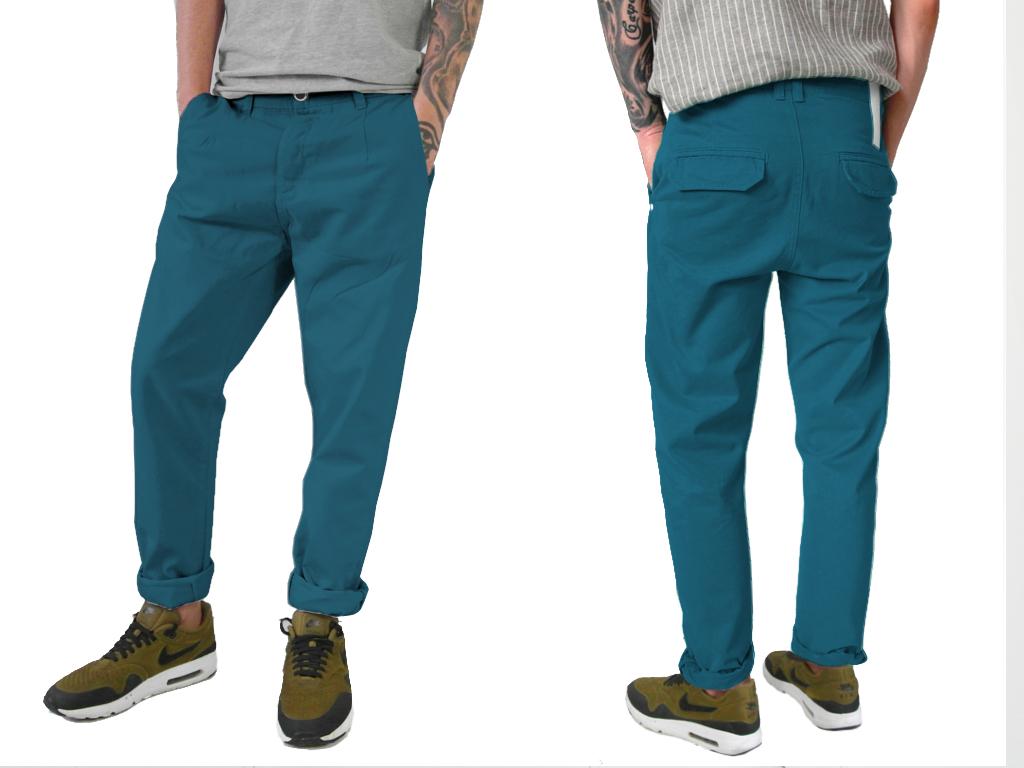 -75% DEAN PANT BLUE JAY spodnie chino 31