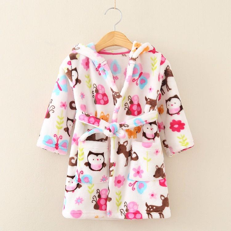f1abf0491a7651 Pluszowy szlafrok dla dzieci piżama 110 - 7365706786 - oficjalne ...