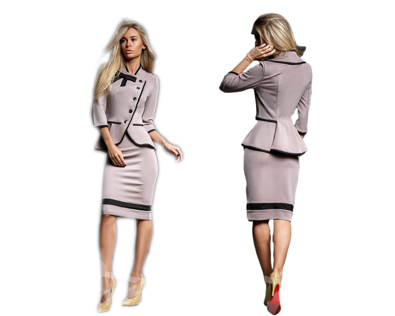 Elegancki komplet spódnica i długi żakiet