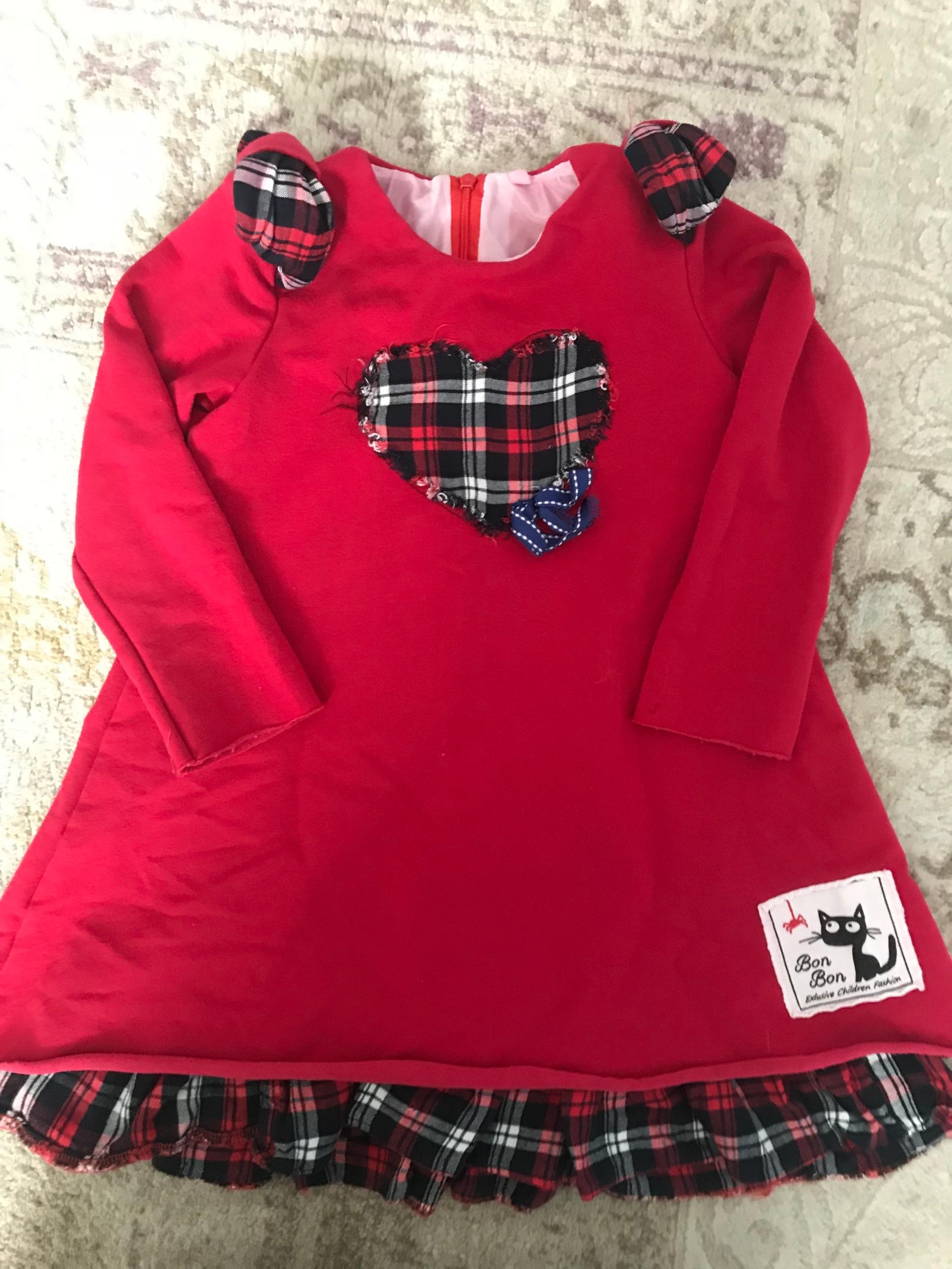 01f0098d6f sukienka bon bon śliczna czerwona rozm.104 - 7591535857 - oficjalne ...