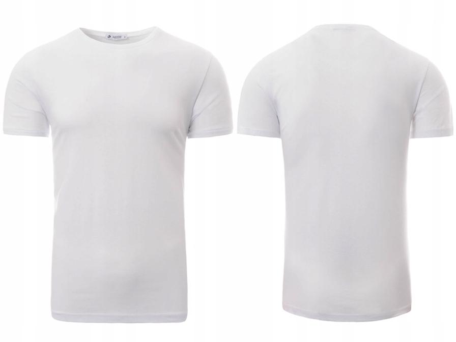 04c8d43ca 2464 Męska Koszulka T-Shirt Gładki Biały L - 7361652765 - oficjalne ...