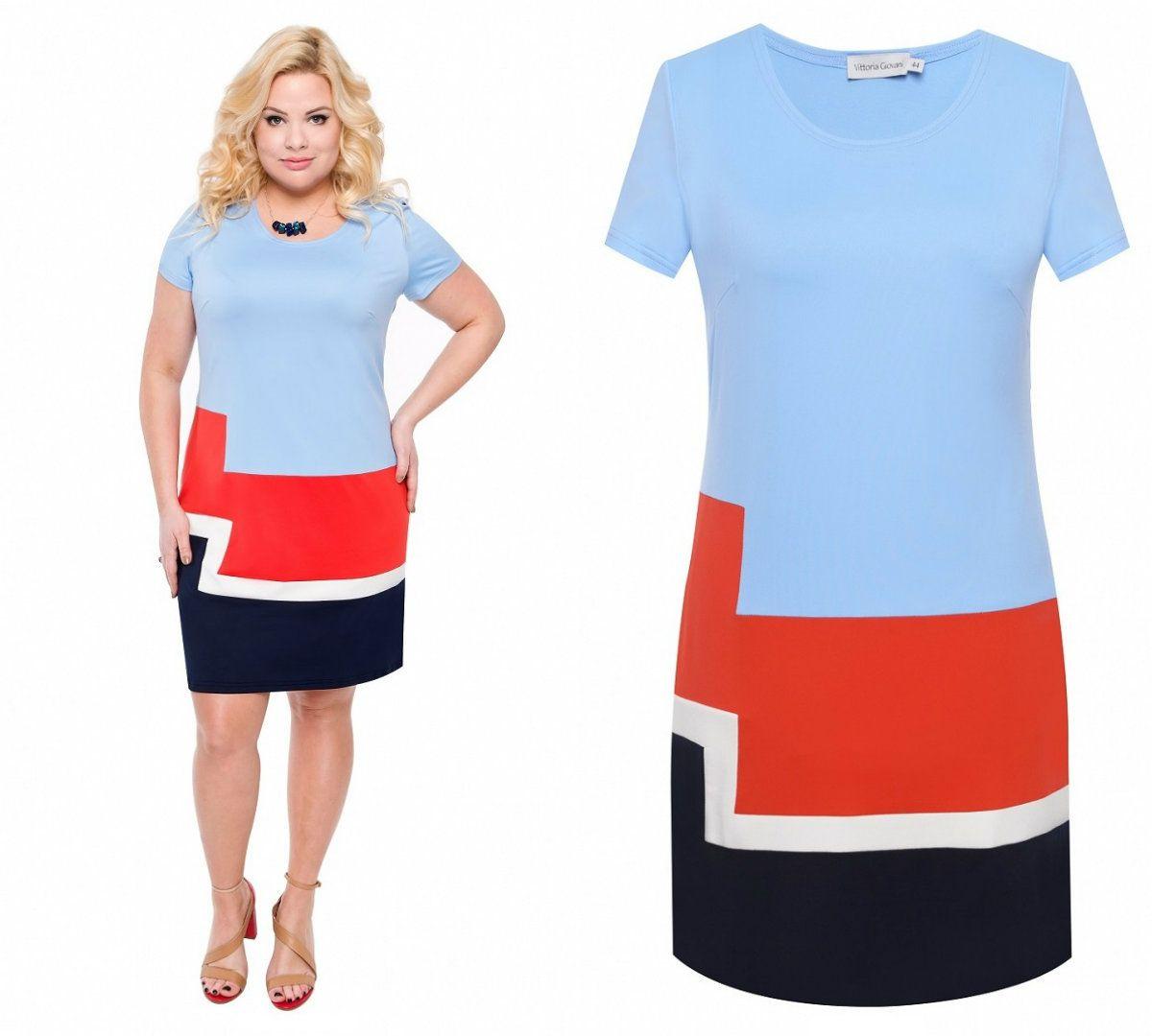34fca7f1 Elegancka dopasowana sukienka błękitna (42-60) - 7364530368 ...