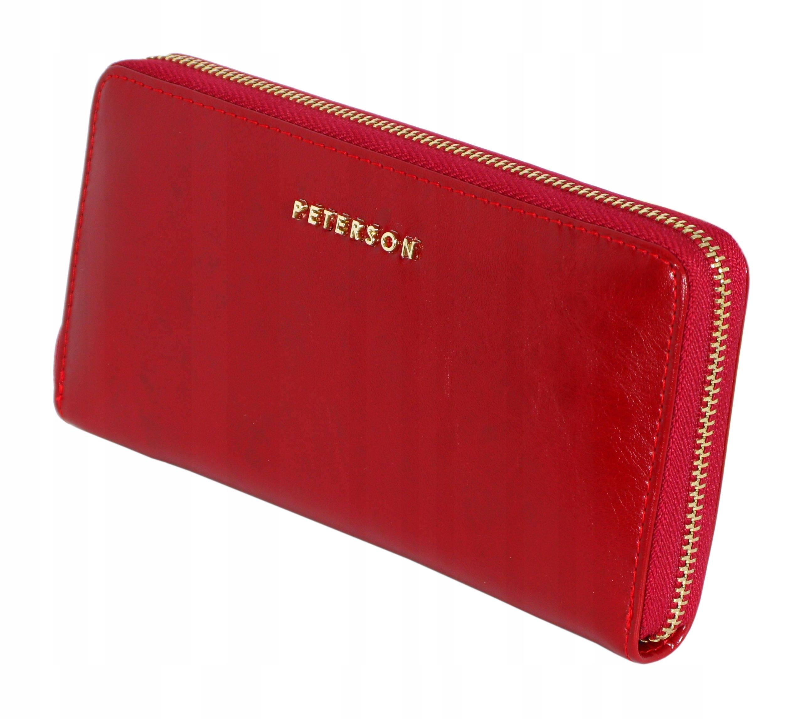 624d91cf403e8 PETERSON skórzany portfel damski PL-781 czerwony - 7525027594 ...