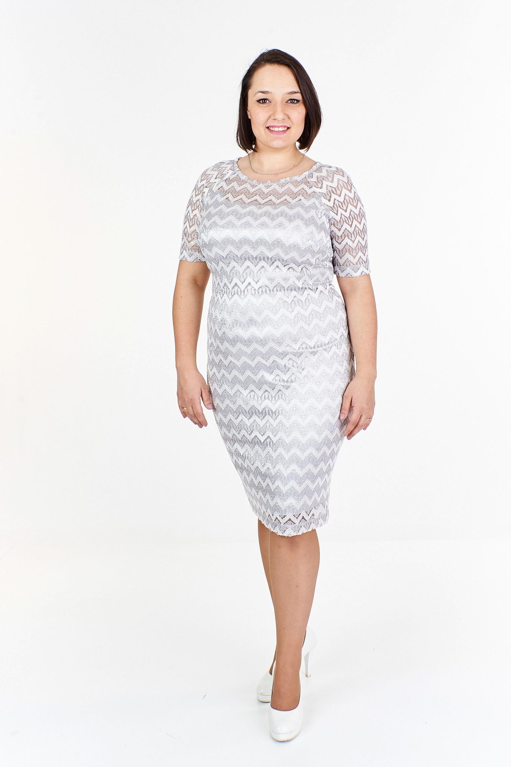 57d0f92027 Pudełkowa sukienka w zygzak Szary 40 - 7445645432 - oficjalne ...