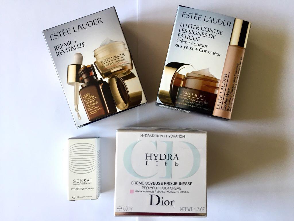Zestaw Dior HYDRA LIFE Estee Lauder REPAIR Kanebo