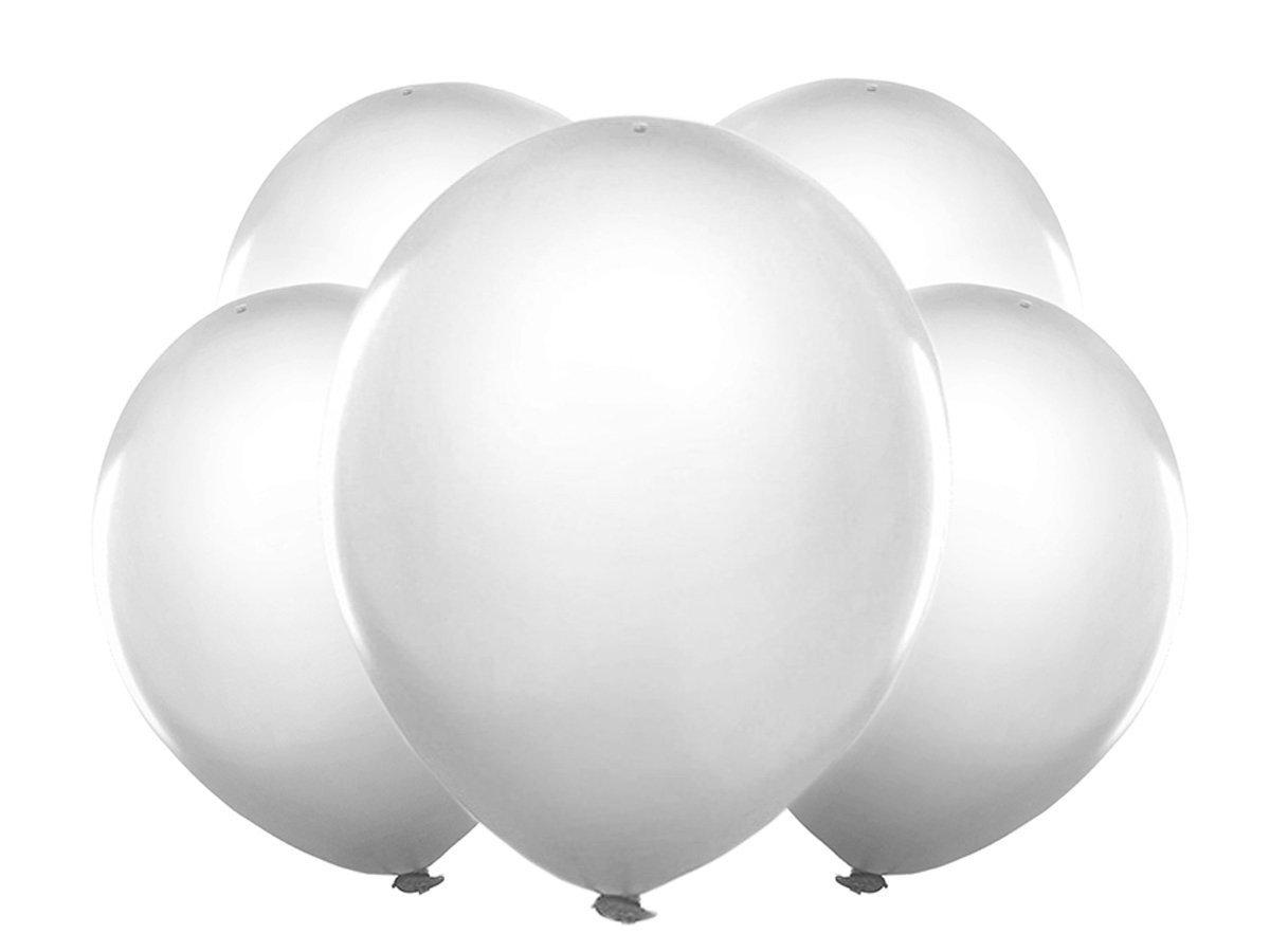 Balony Led świecące Urodziny ślub Białe 30cm 5 Szt 7386608876