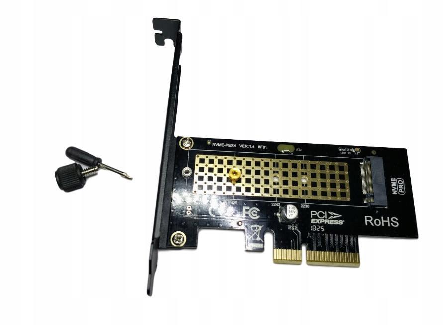 Karta PCI-e x4 Adapter M.2 NGFF M Key SSD NVMe