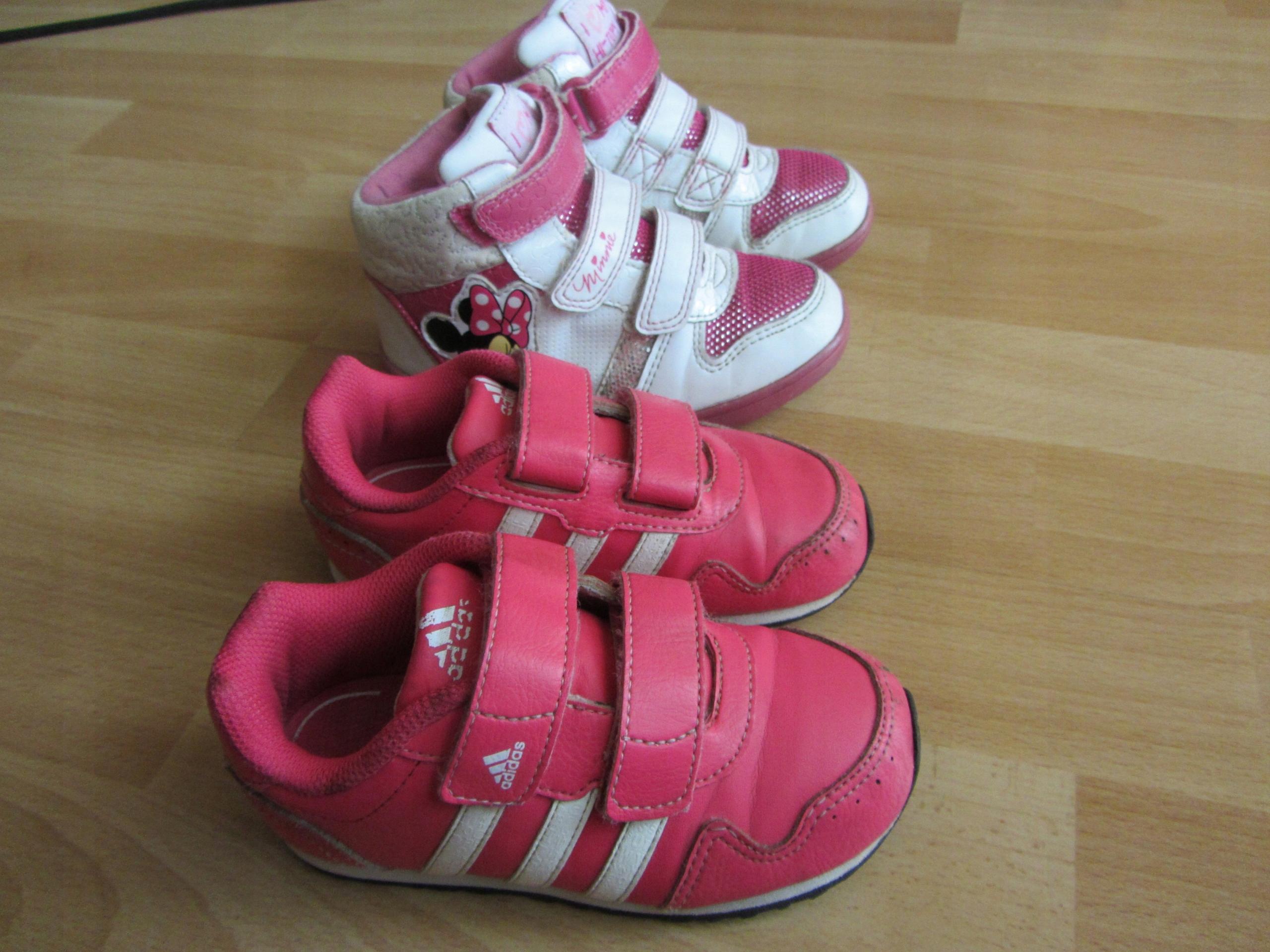 dd6235048b10e ADIDAS zestaw 2 par butów za kostkę nr 25