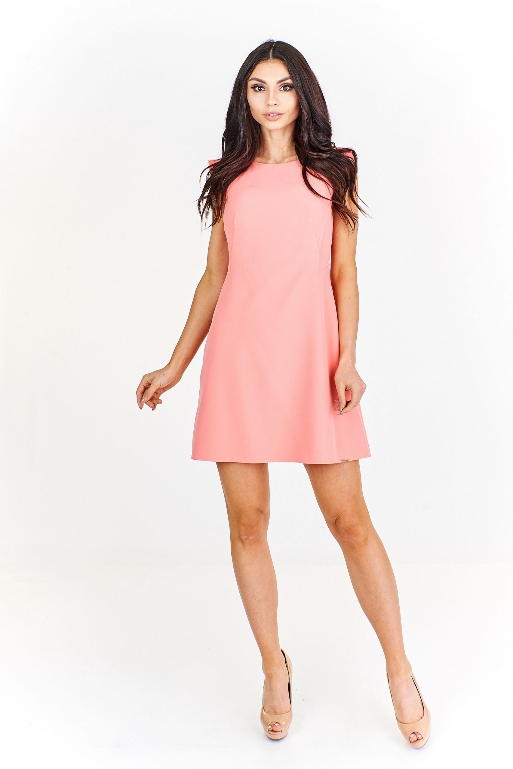 f57abc7f6f Trapezowa sukienka koktajlowa Pomarańczowy XL - 7447272151 ...