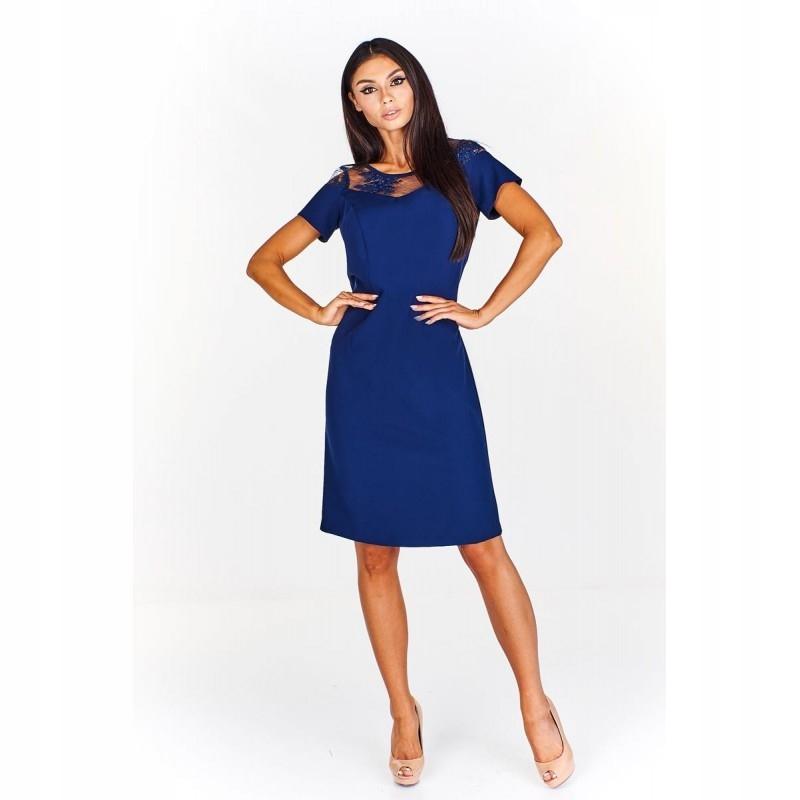0d84b324 Sukienka z koronkową wstawką przy dekolcie 58 Gran - 7599331718 ...