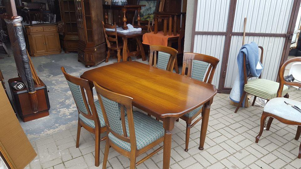 Stół Dębowy Z Krzesłami Krzesła 4 Sztuki Holandia 7256557964