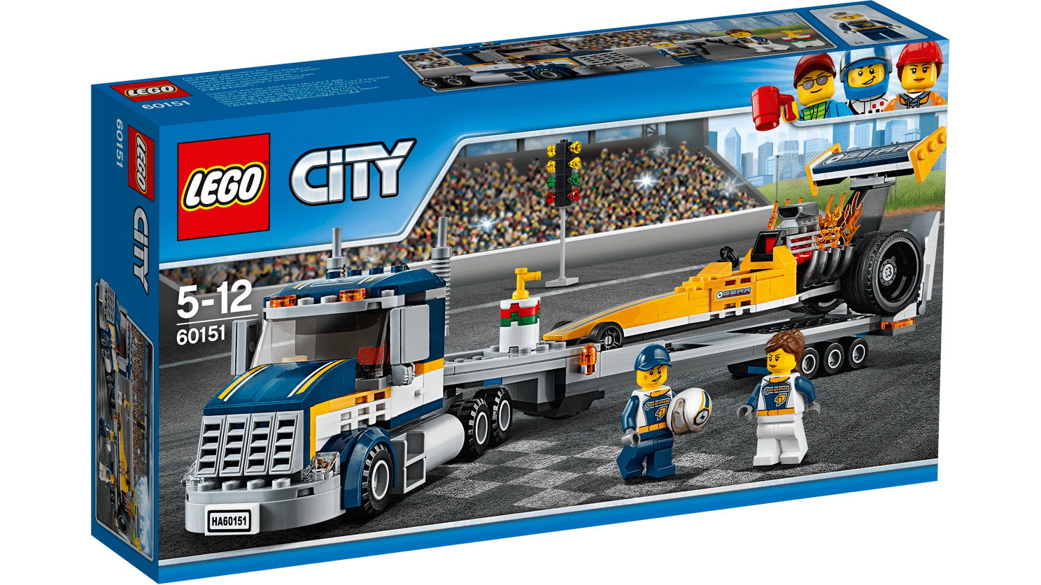 LEGO CITY 60151 TRANSPORTER DRAGSTERA Kraków