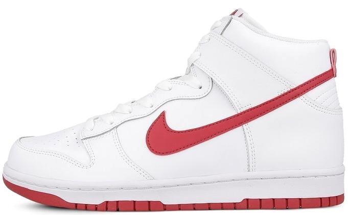 new product b2e48 5e7ac NIKE DUNK HIGH WHITE GYM RED r. 44 SUPER BUTY
