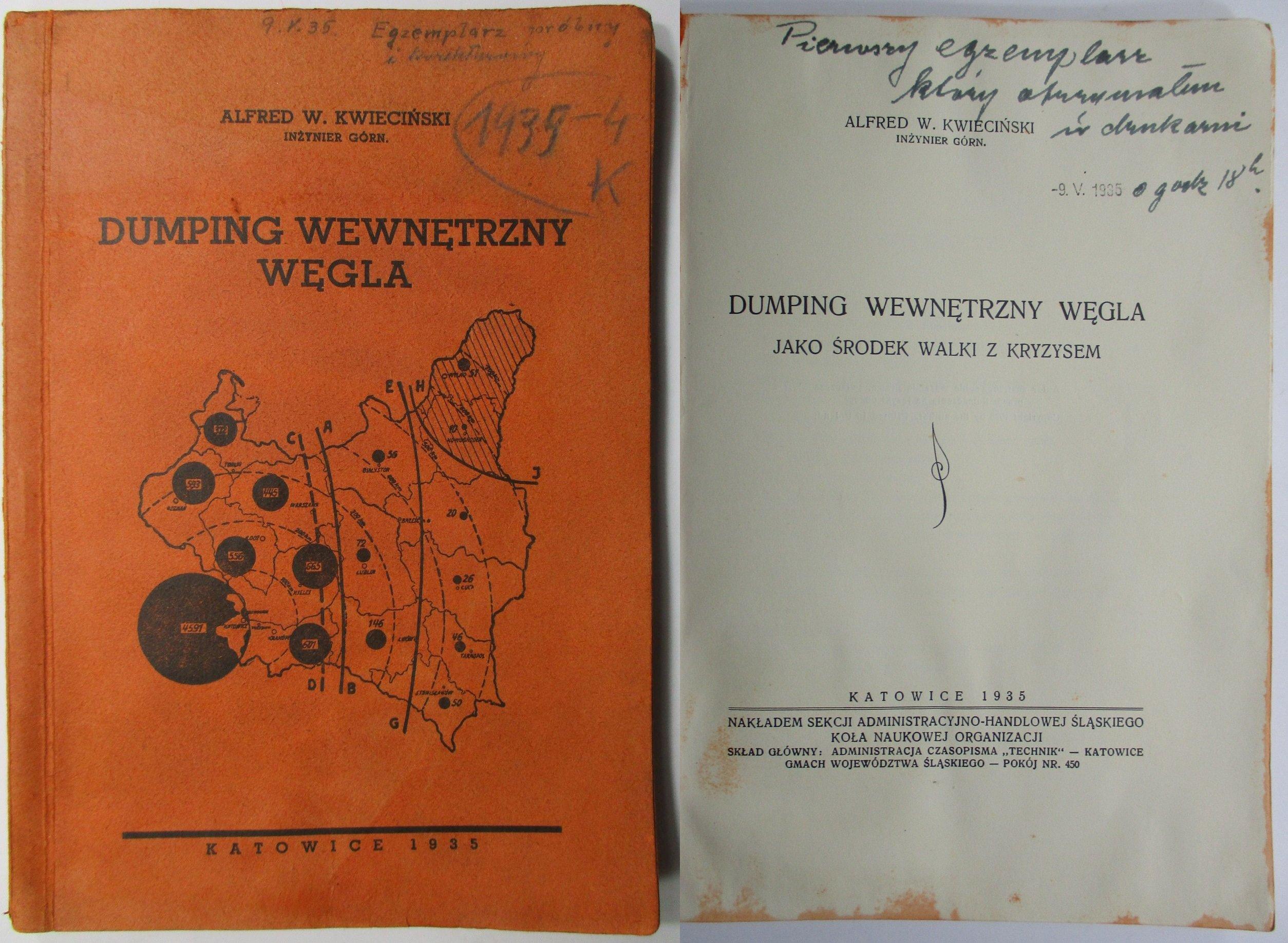 Damping wewnętrzny węgla, Kwieciński, 1935