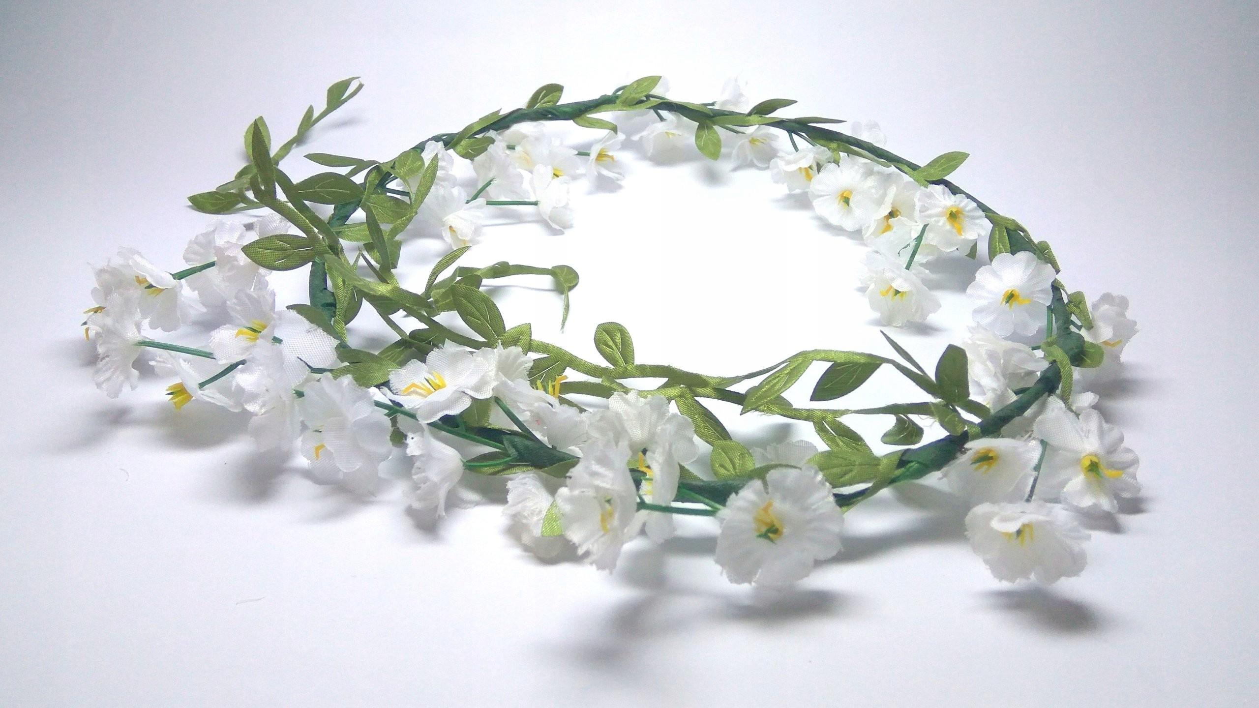Wianek Girlanda Kwiaty Boho Etno Komunia Wesele 7232257801