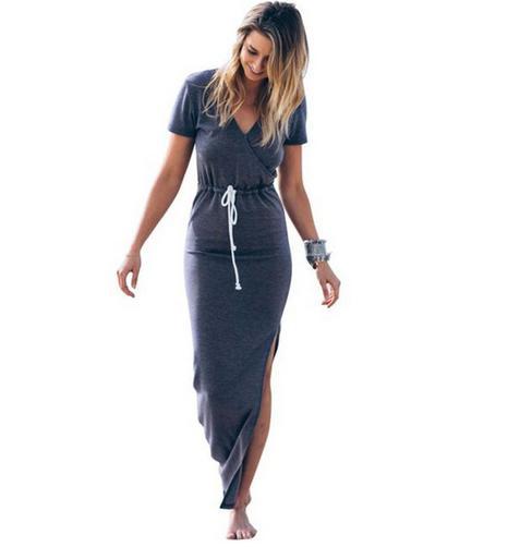 b796c8345b Sukienka dresowa MAXI ze ściągaczem L - 7398584479 - oficjalne ...