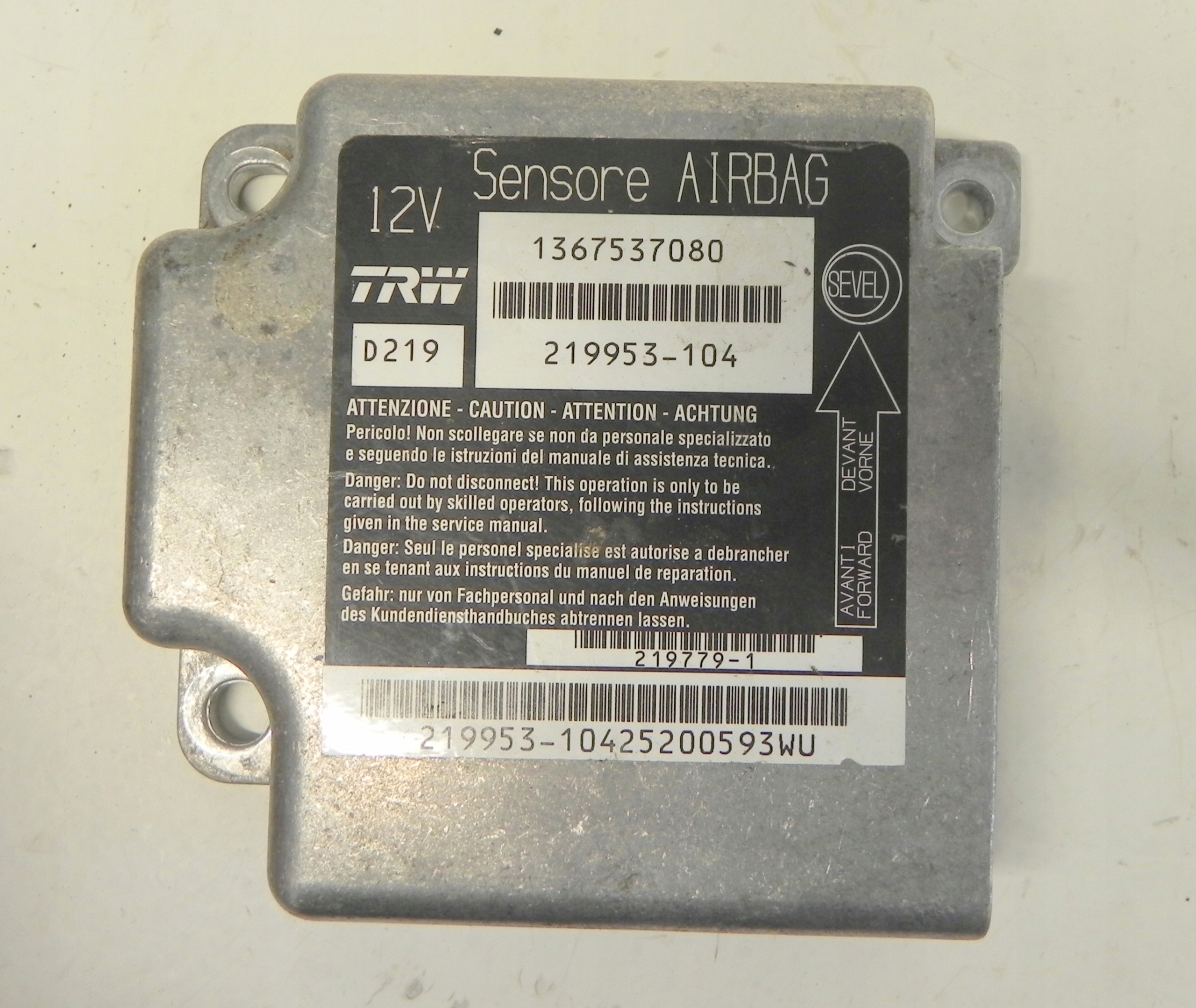 Fiat Ducato Iii Moduł Sensor Airbag 7704310196 Oficjalne