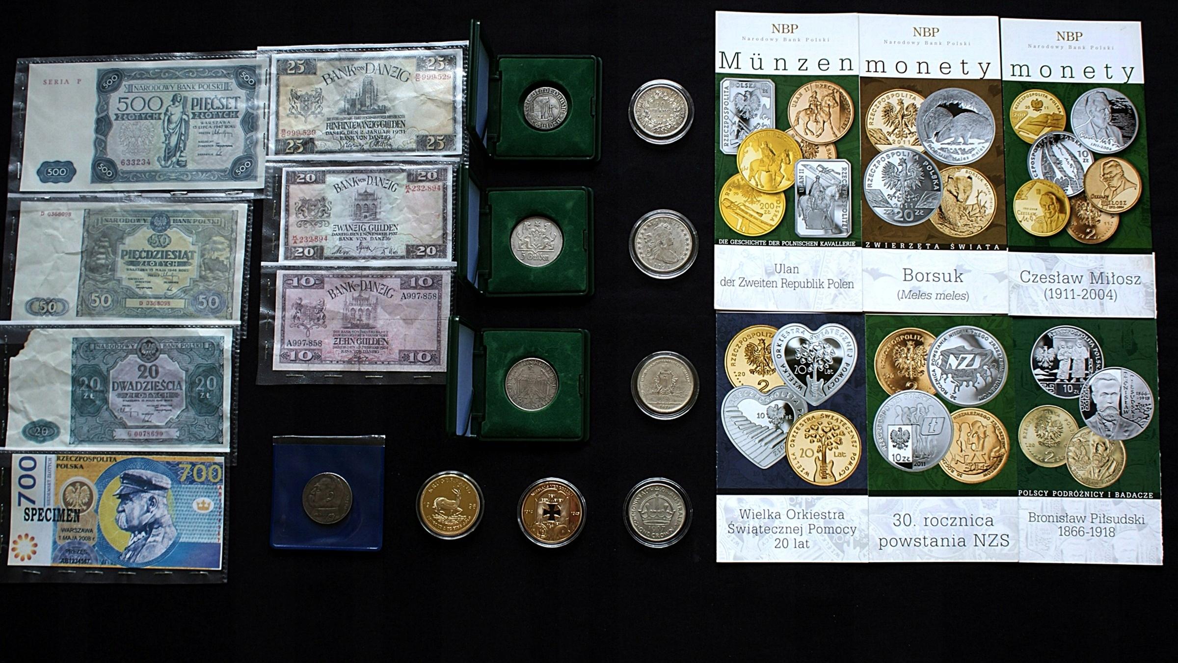 monety banknoty DO ROZPOZNANIA po Kolekcjonerze