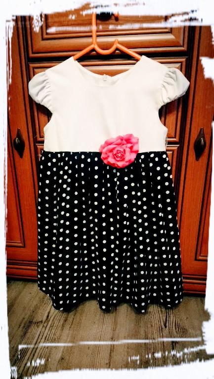 3c5d4350da sukienka w groszki 116 wesele komunia - 7345429505 - oficjalne ...