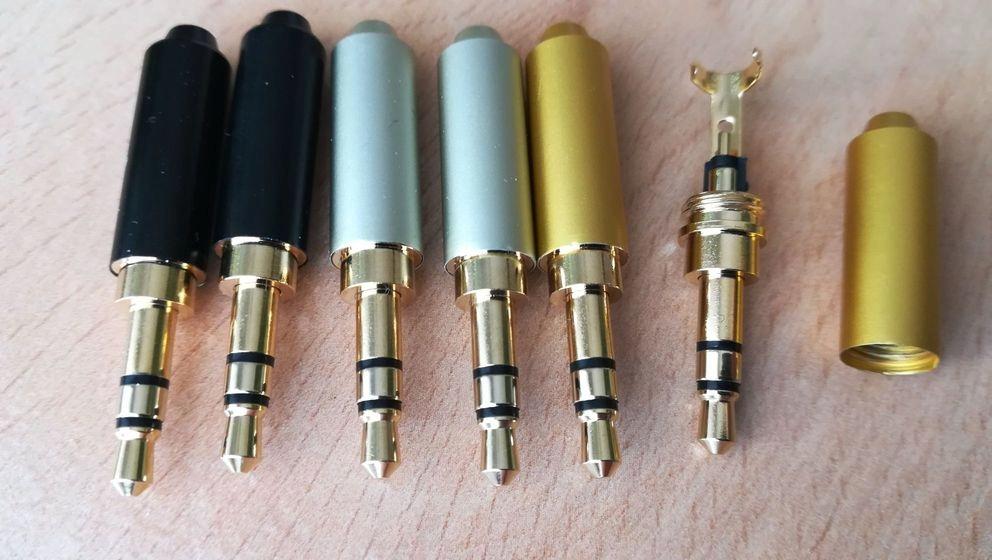 Wtyk mini Jack 3,5mm do lutowania prosty