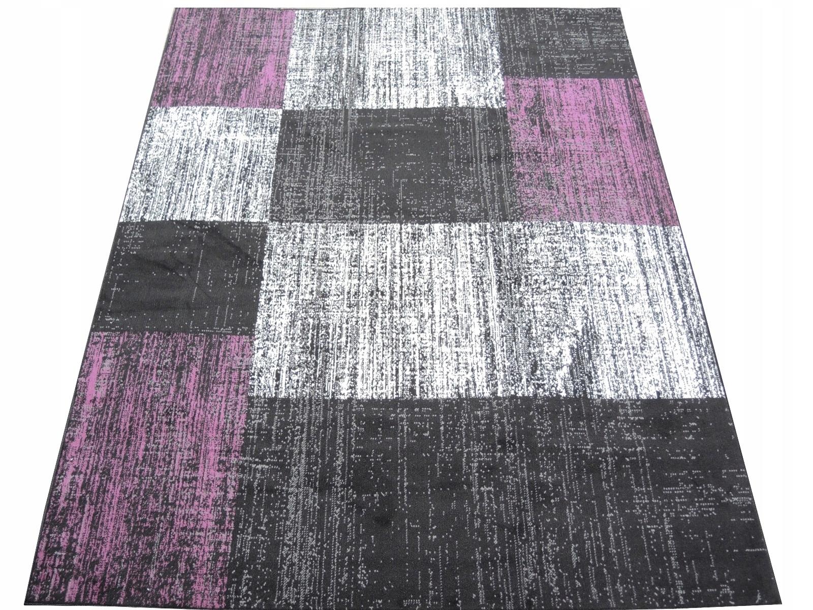 Dywany Młodzieżowe Beganta Cubes Violet 200x290 7513256059