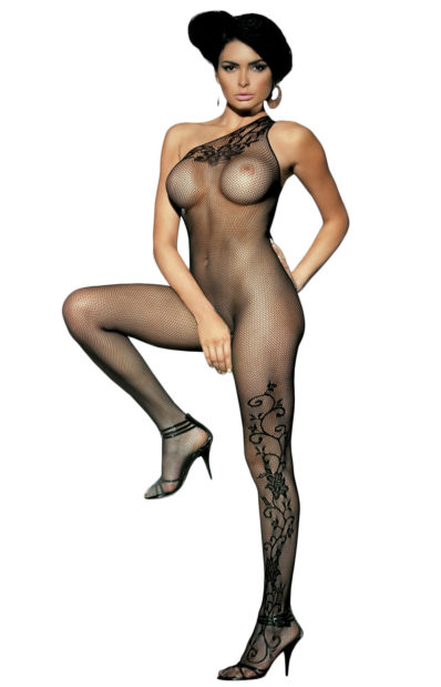 SEXY CZARNE BODYSTOCKING F203 BLACK OBSESSIVE S/M