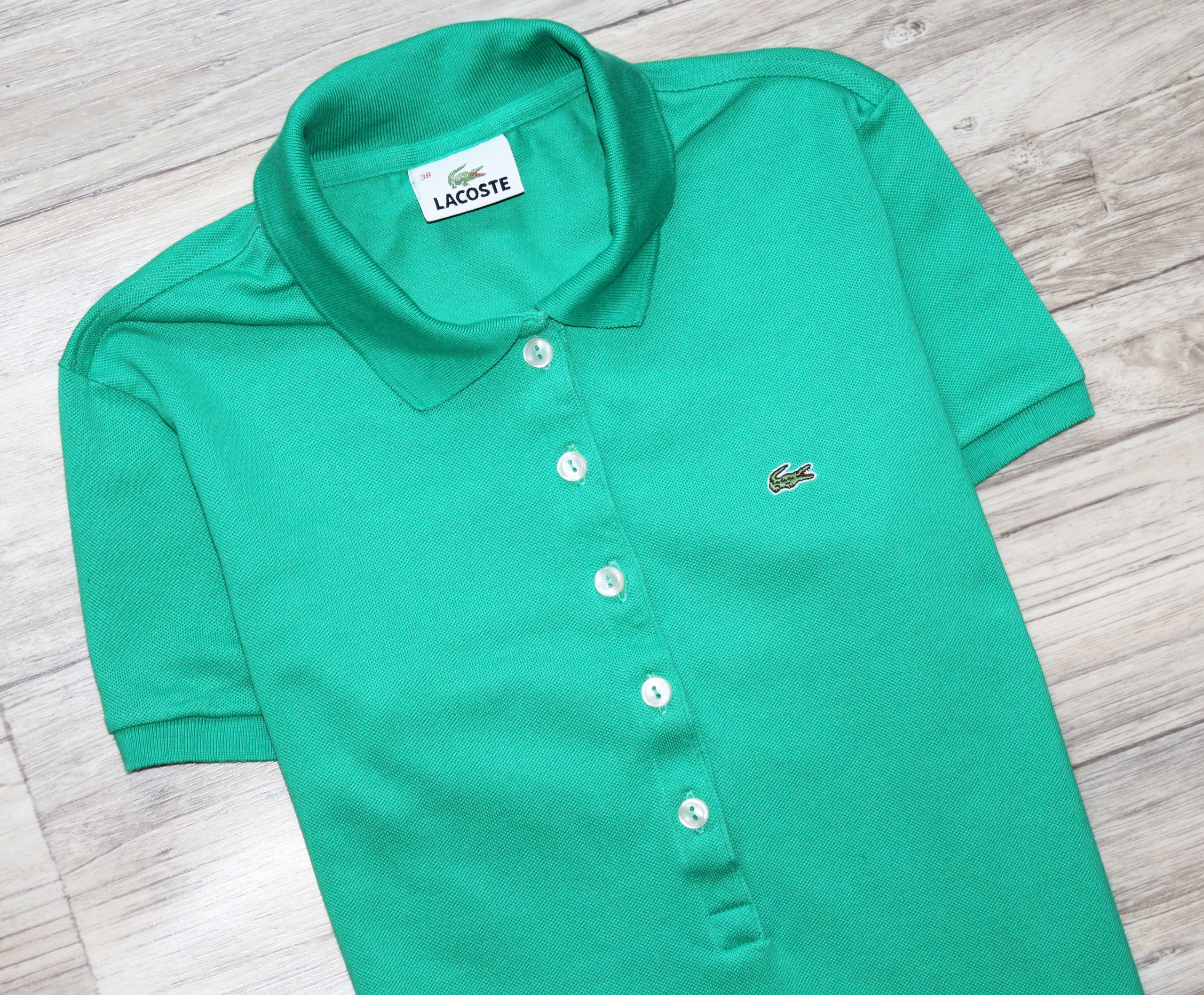 d86849e52 Bluzka Polo Lacoste bdb 38 S oryginał logo - 7460505216 - oficjalne ...