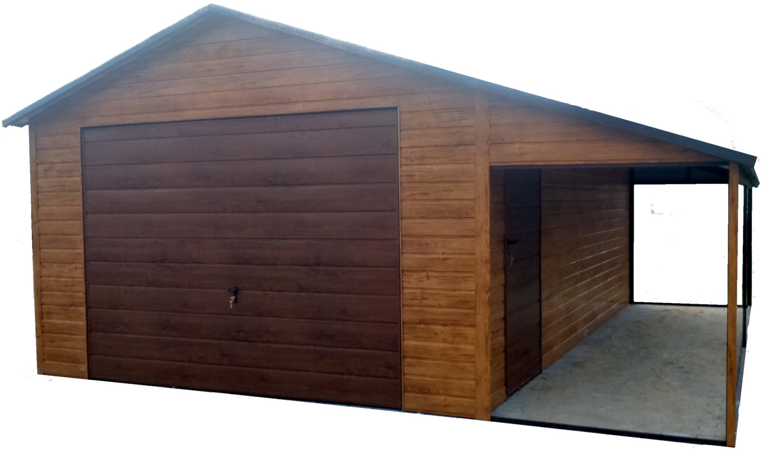 Garaż Blaszany Garaże Blaszane Blaszak 4x6 Cała P 7249990935