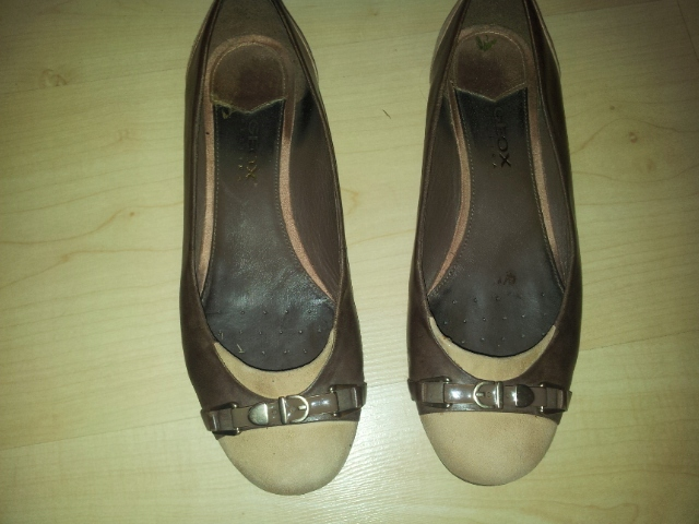 57ce42c2 GEOX włoskie skórzane skóra naturalna baleriny 36 - 7466204708 ...